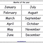 Free Printable Months Of The Year Chart | Alivia Learning Folder | Home Worksheets Printables