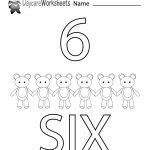 Free Printable Number Six Learning Worksheet For Preschool | Daycare Worksheets Printable