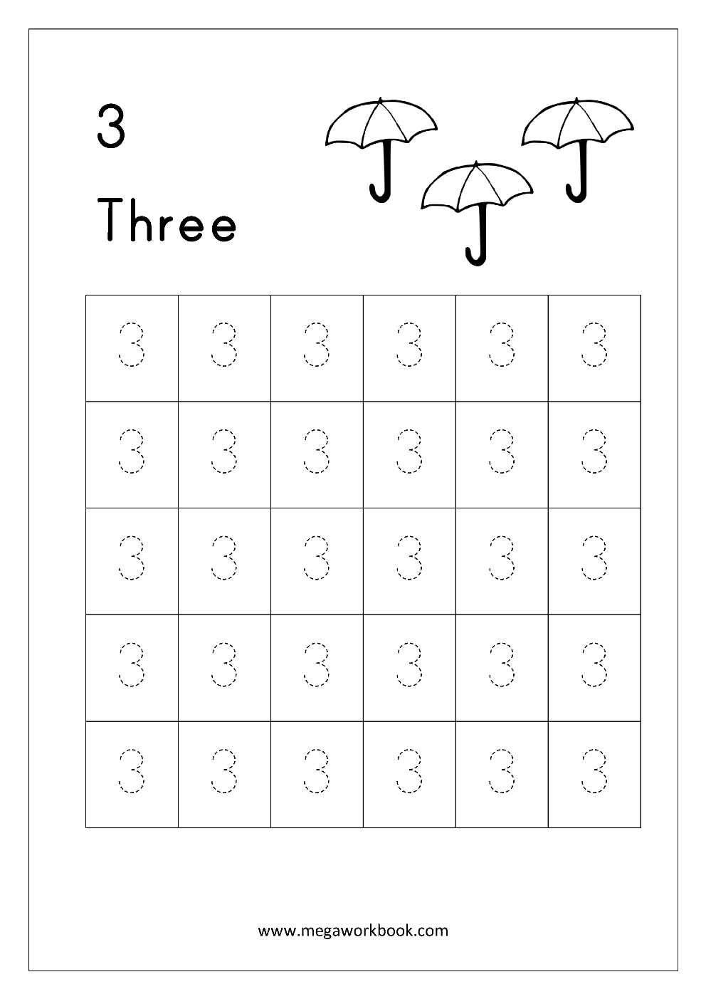 Free Printable Number Tracing And Writing (1-10) Worksheets - Number | Printable Number Tracing Worksheets