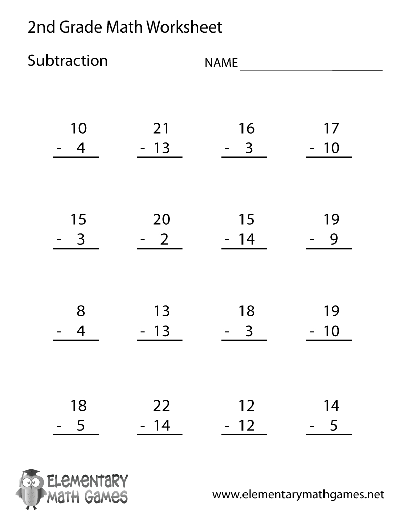 Free Printable Second Grade Math Worksheets To Download 2Nd | Printable Second Grade Math Worksheets