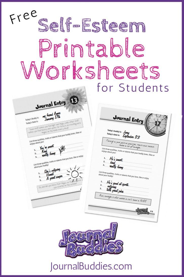 Self Esteem Printable Worksheets For Kids