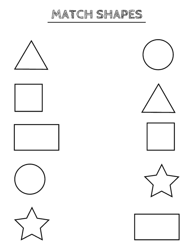 Free Printable Shapes Worksheets For Toddlers And Preschoolers | Free Printable Shapes Worksheets For Kindergarten