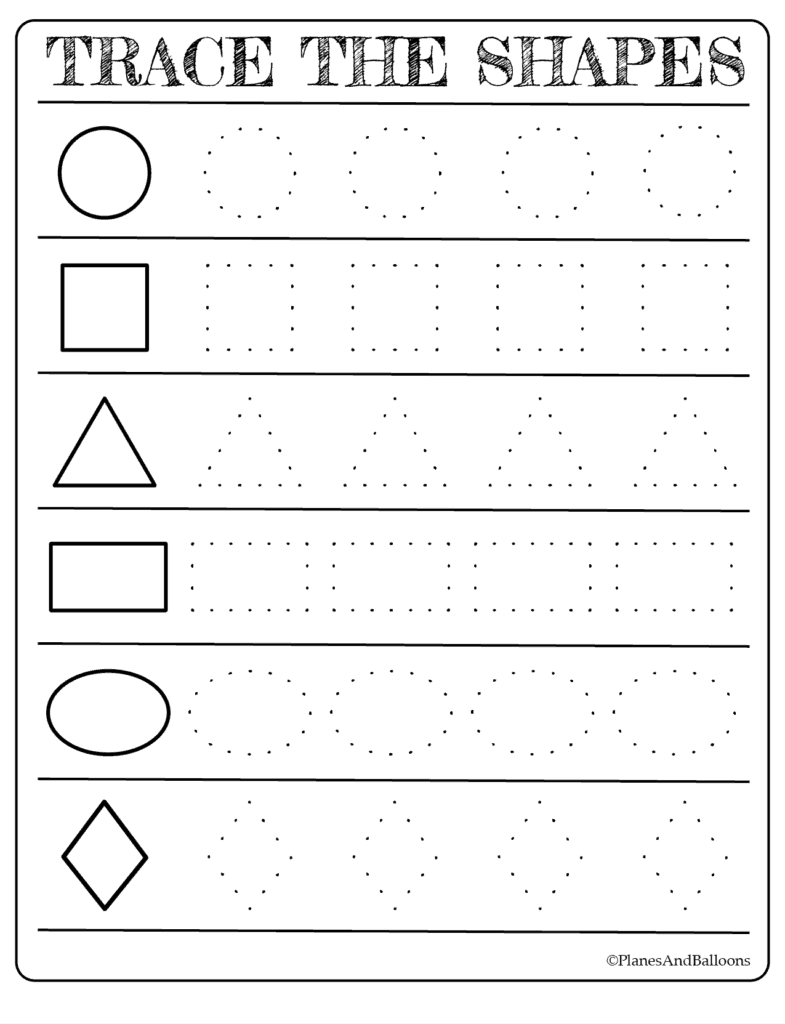Free Printable Shapes Worksheets For Toddlers And Preschoolers | Free Printable Tracing Worksheets For Preschoolers