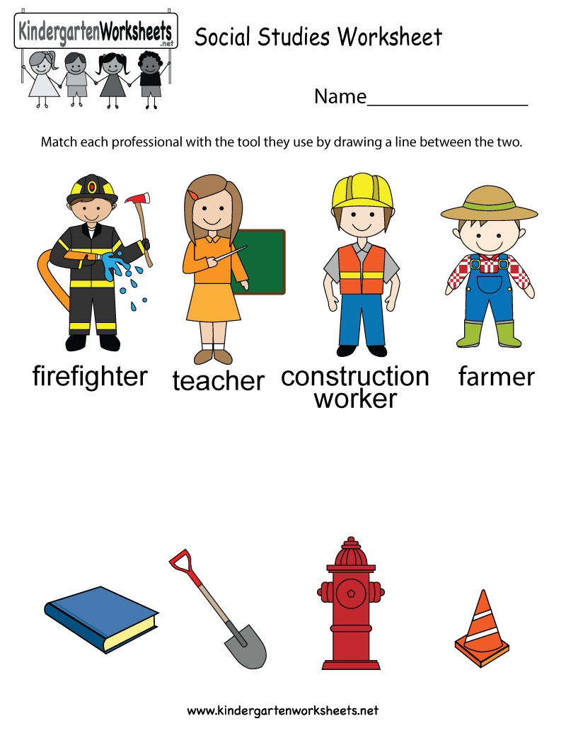 Free Printable Social Studies Worksheet For Kindergarten | Free Printable Social Studies Worksheets
