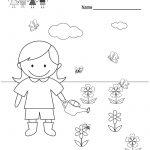 Free Printable Spring Coloring Worksheet For Kindergarten   Free Printable Spring Worksheets For Kindergarten