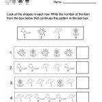 Free Printable Spring Patterns Worksheet For Kindergarten   Free | Spring Printable Worksheets