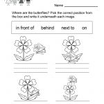 Free Printable Spring Spatial Concepts Worksheet For Kindergarten   Free Printable Spring Worksheets For Kindergarten
