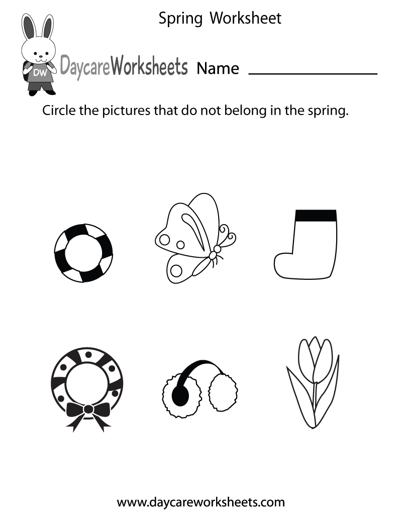 Free Printable Spring Worksheet For Preschool | Spring Printable Worksheets For Preschoolers