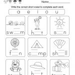 Free Printable Summer Phonics Worksheet For Kindergarten | Short A Printable Worksheets