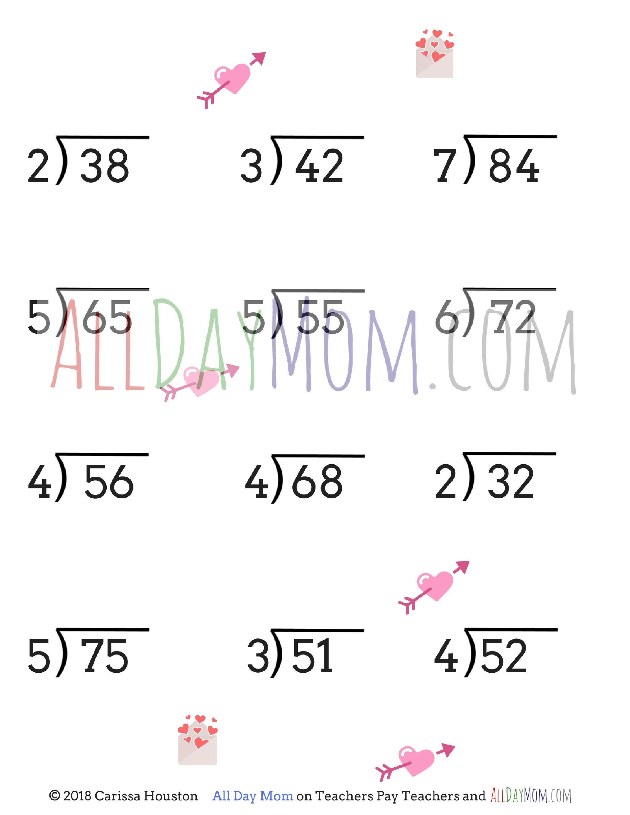 Free Printable Valentine's Day Math Worksheets! | Homeschool Math | Free Printable Valentine Math Worksheets