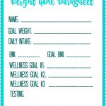 Free Printable Weight Loss Goal Worksheet   Debt Free Spending | Free Printable Calorie Counter Worksheet