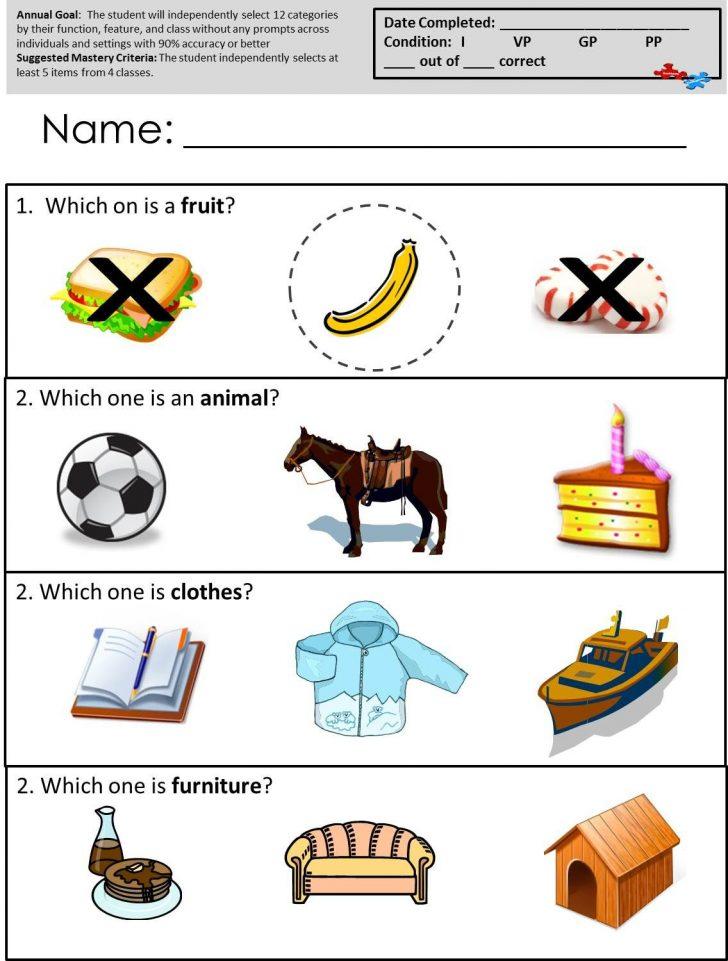 Free Printable Autism Worksheets