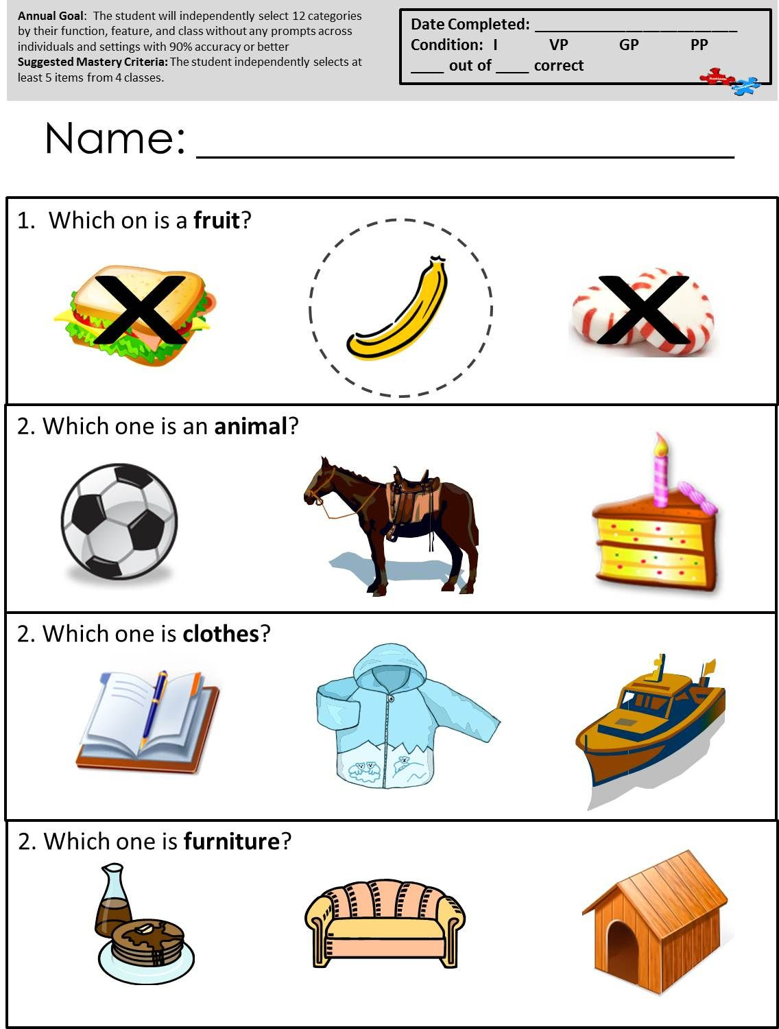 Free Printable Worksheets For Autism Classrooms! Available At   Free Printable Autism Worksheets
