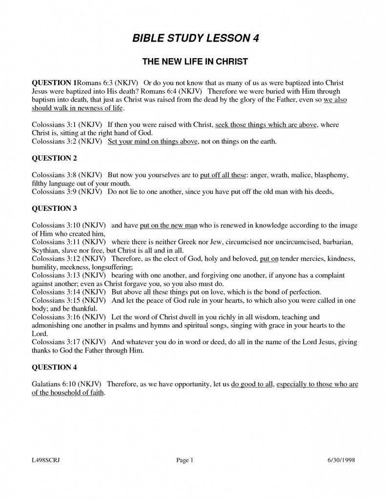 Free Printable Youth Bible Study Lessons | World Of Printable And | Free Printable Bible Study Worksheets For Adults