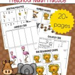 Free Printable Zoo Math Worksheets For Preschoolers | Free Printable Zoo Worksheets