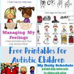 Free Printables For Autistic Children And Their Families Or Caregivers   Free Printable Autism Worksheets