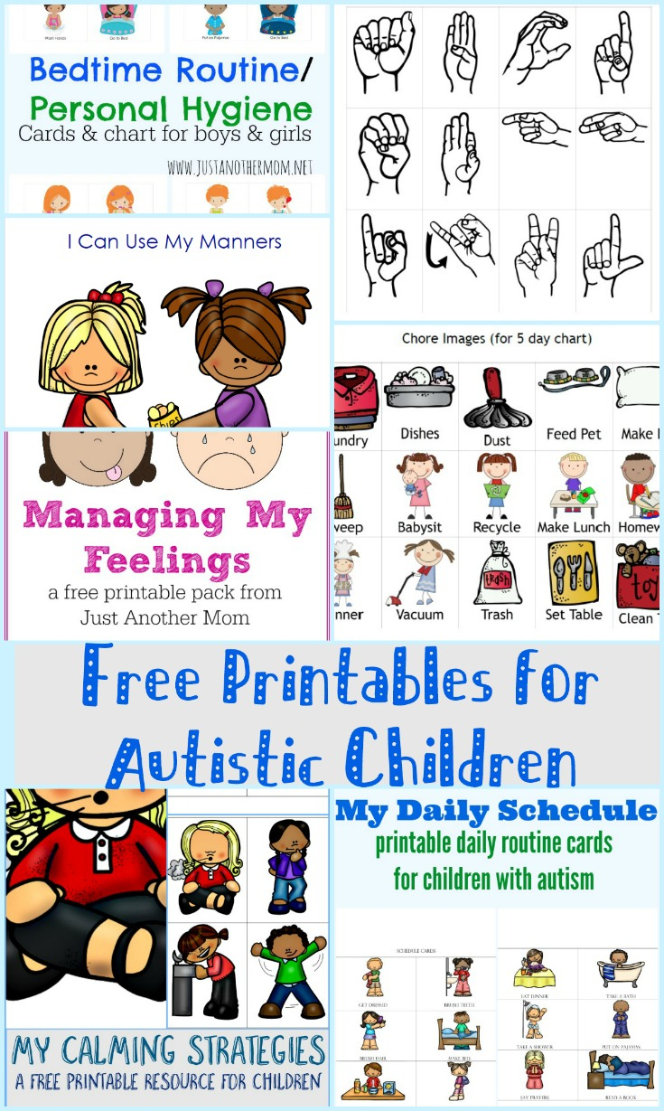 Free Printables For Autistic Children And Their Families Or Caregivers | Free Printable Autism Worksheets