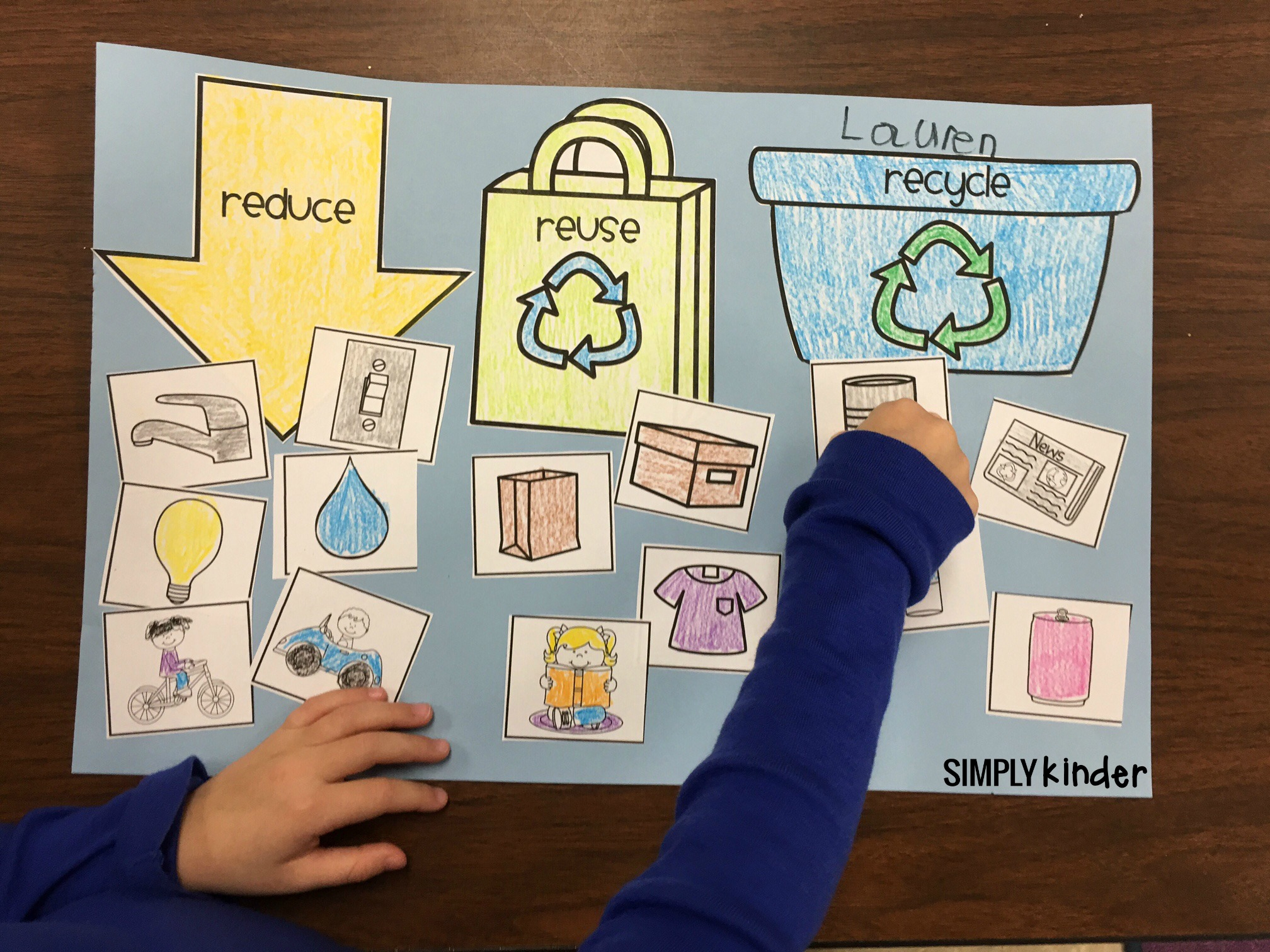 Free Recycling Sort - Simply Kinder | Recycle Worksheets Printable
