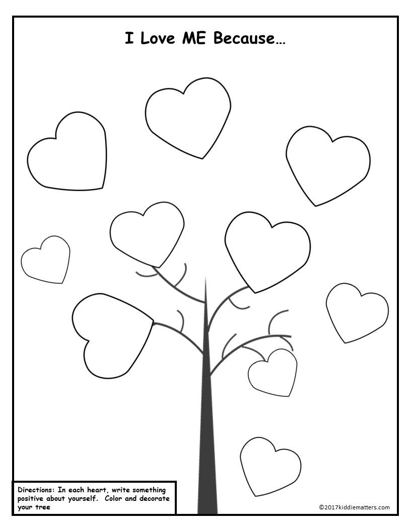 Free Self-Esteem Resources For Kids - Kiddie Matters | Self Esteem Printable Worksheets For Kids
