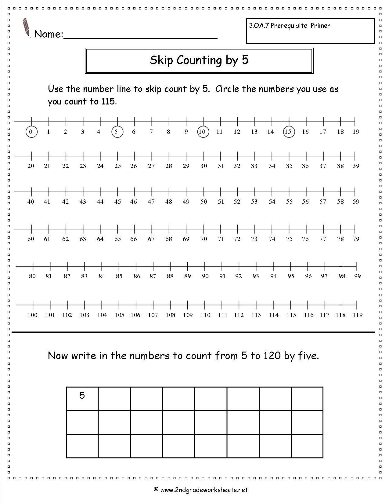 Free Skip Counting Worksheets | Skip Counting By 3 Printable Worksheets