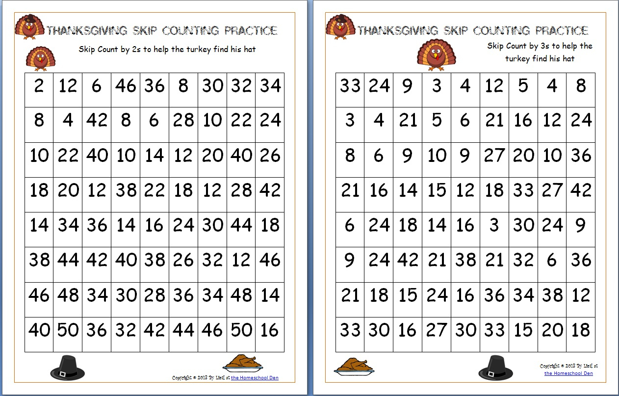 Free Thanksgiving Math Worksheets Archives - Homeschool Den   Math Worksheets Thanksgiving Free Printable