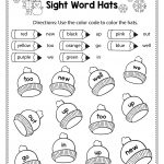 Free Winter Literacy Worksheet For Kindergarten (No Prep | Tpt | Free Printable First Grade Sight Words Worksheets