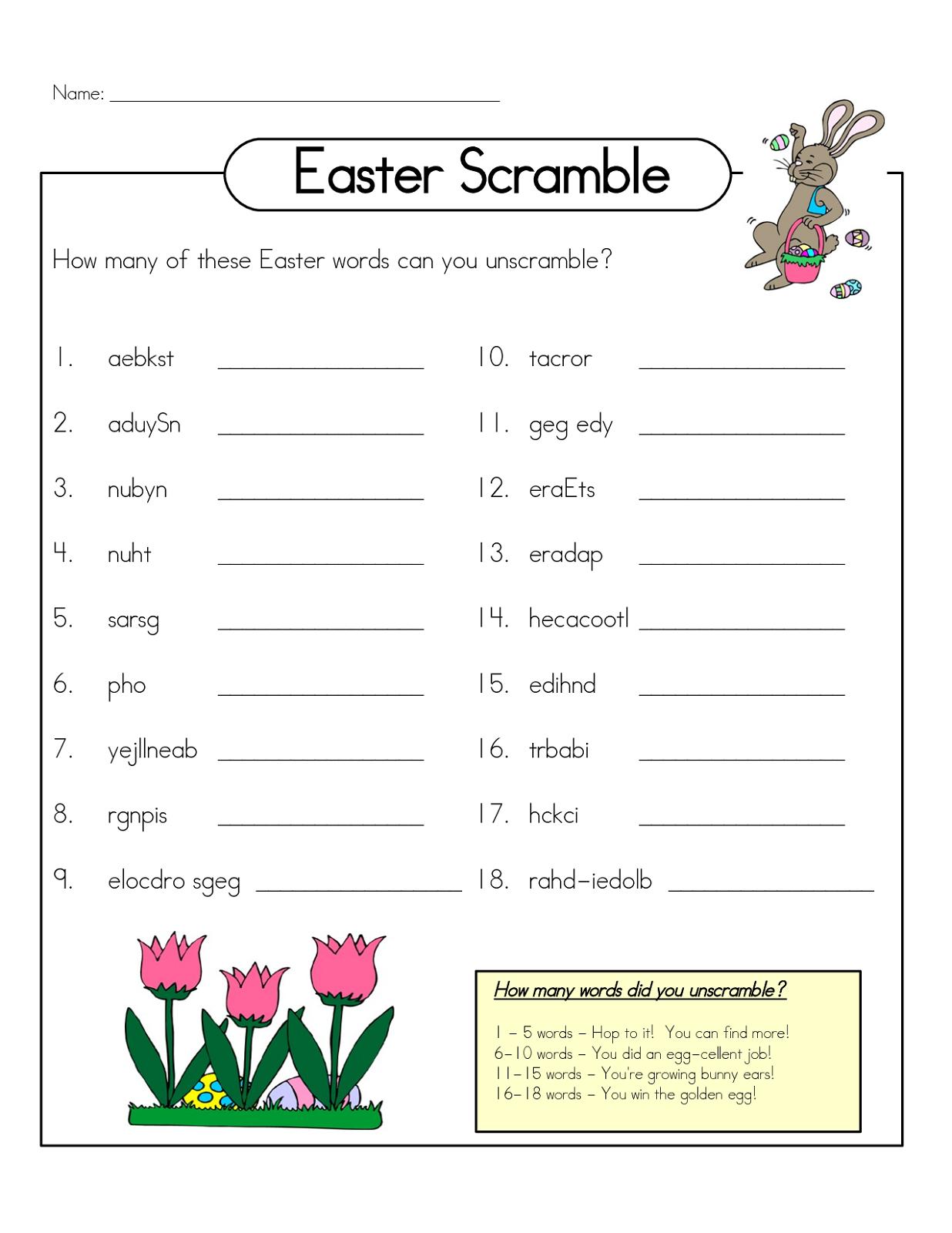 Free Word Scrambles Worksheets | Activity Shelter | Free Printable Word Scramble Worksheets
