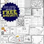 Free Worksheets   200,000+ For Prek 6Th | 123 Homeschool 4 Me | Free Student Worksheets Printables