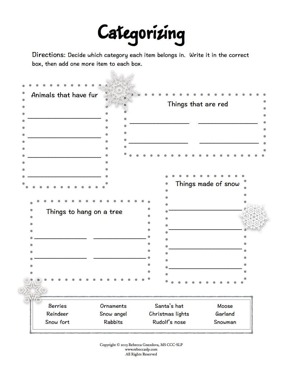 Freebie* Expressive Language Worksheets | Speech-Language Therapy | Printable Aphasia Worksheets