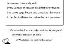 Second Grade Reading Comprehension Printable Worksheets