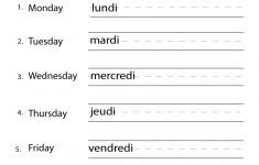 Free Printable French Worksheets For Grade 4