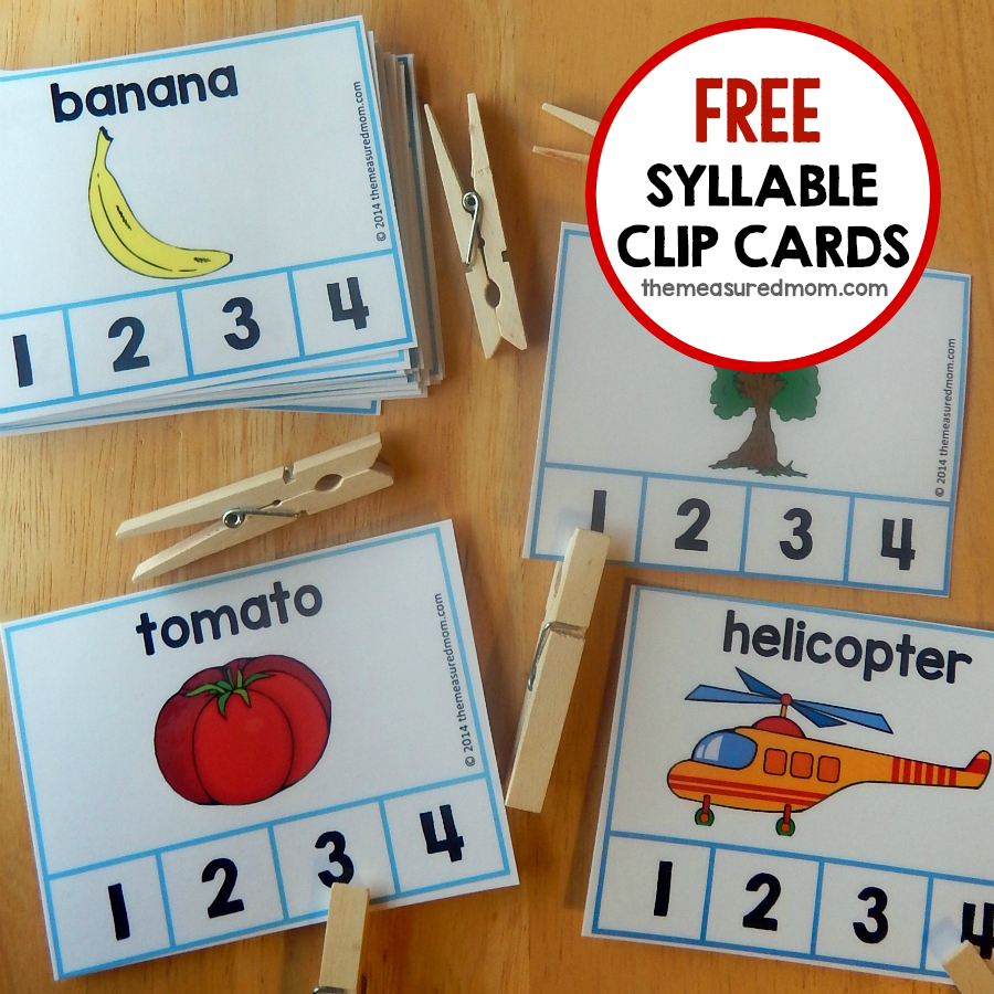 Fun Syllable Count Activity - The Measured Mom | Free Printable Syllable Worksheets For Kindergarten