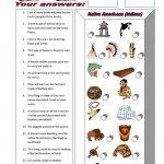 Funsheet For Beginners: Native Americans (Indians) Worksheet   Free | Indian In The Cupboard Free Printable Worksheets