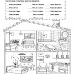 Furniture In The House Worksheet   Free Esl Printable Worksheets | Home Worksheets Printables