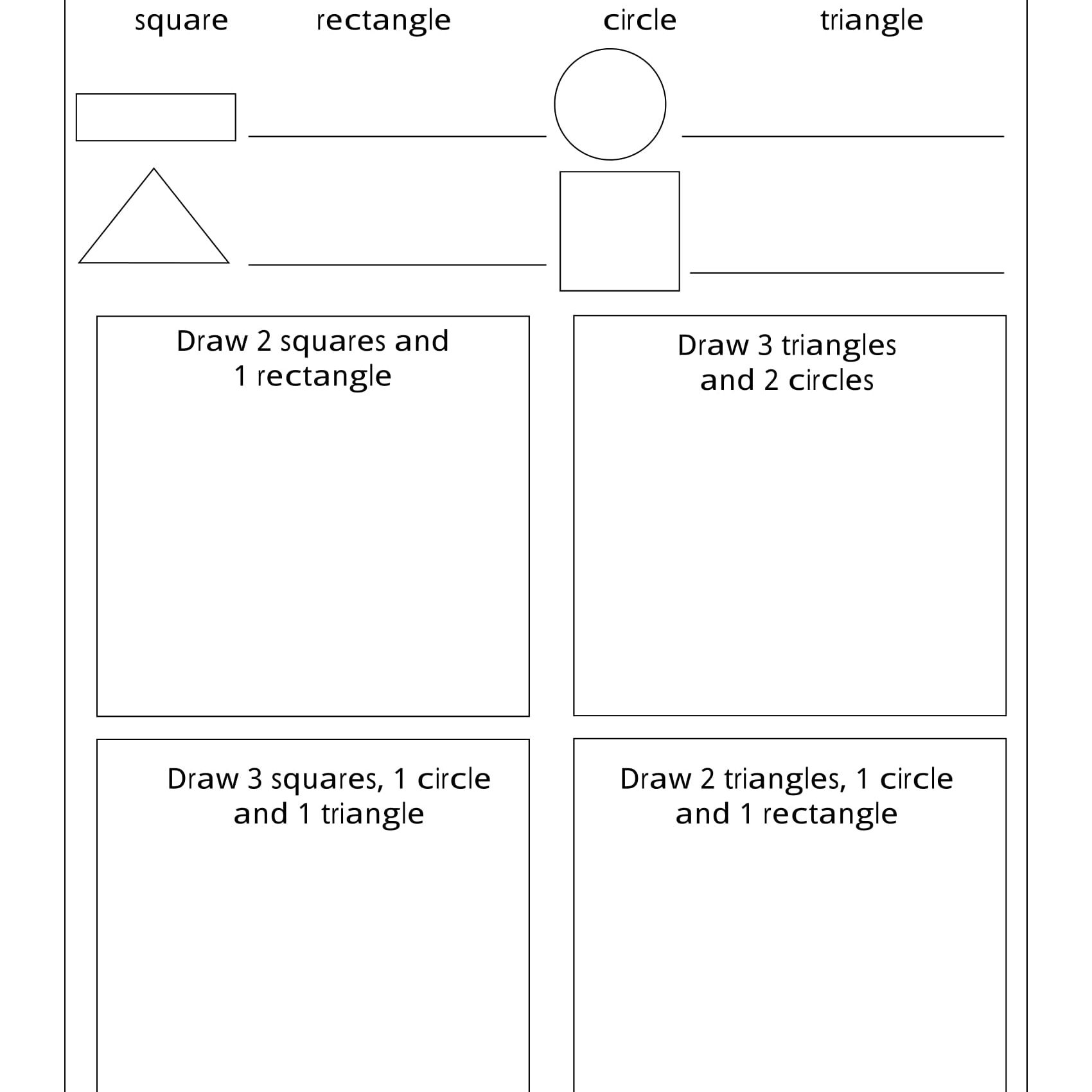 Geometry Worksheets For Students In 1St Grade | Printable Computer Worksheets For Grade 2