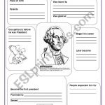 George Washington   Esl Worksheetsvetic | Free Printable George Washington Worksheets