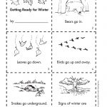 Get Ready For Winter With This Free Minibook Reproducible. | Fall | Free Printable Hibernation Worksheets