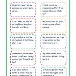 Giving Advice   Problem Cards Worksheet   Free Esl Printable | Giving Advice Printable Worksheets