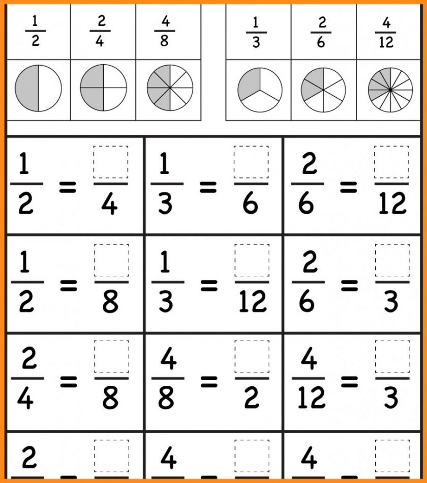 Grade 3Rd Fractions Worksheets Image Free Printable Comparing - Free | Free Printable First Grade Fraction Worksheets