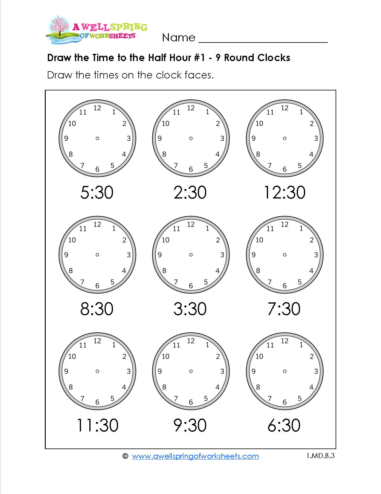 Grade Level Worksheets   Maths   2Nd Grade Math Worksheets, First   Printable Telling Time Worksheets 1St Grade