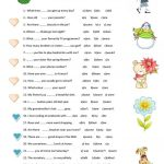 Grammar Test Worksheet   Free Esl Printable Worksheets Made | Esl Printable Grammar Worksheets