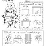 Grammar Worksheet   Free Kindergarten English Worksheet For Kids | Kindergarten Ela Printable Worksheets