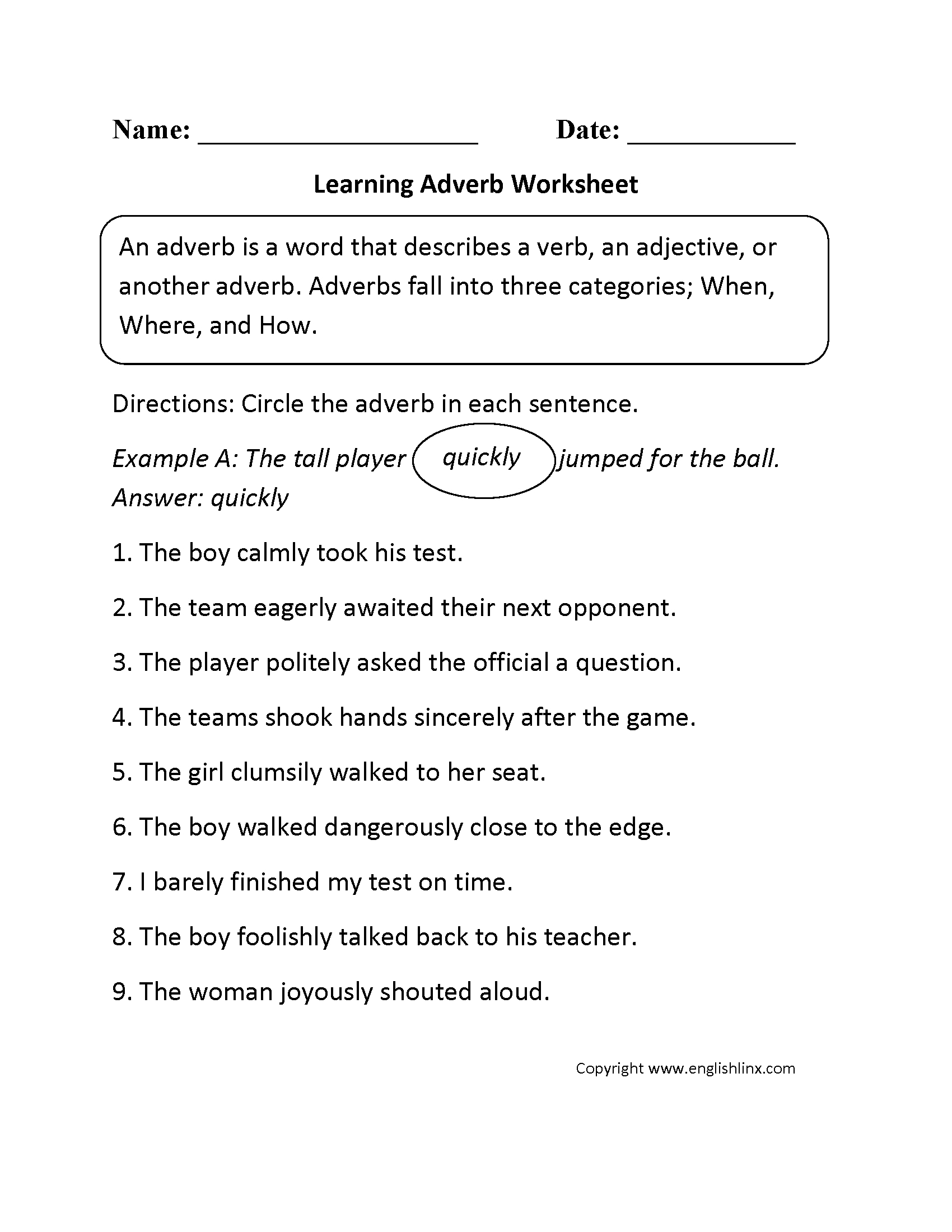Grammar Worksheets | Parts Of Speech Worksheets - Free Printable | Free Printable Parts Of Speech Worksheets