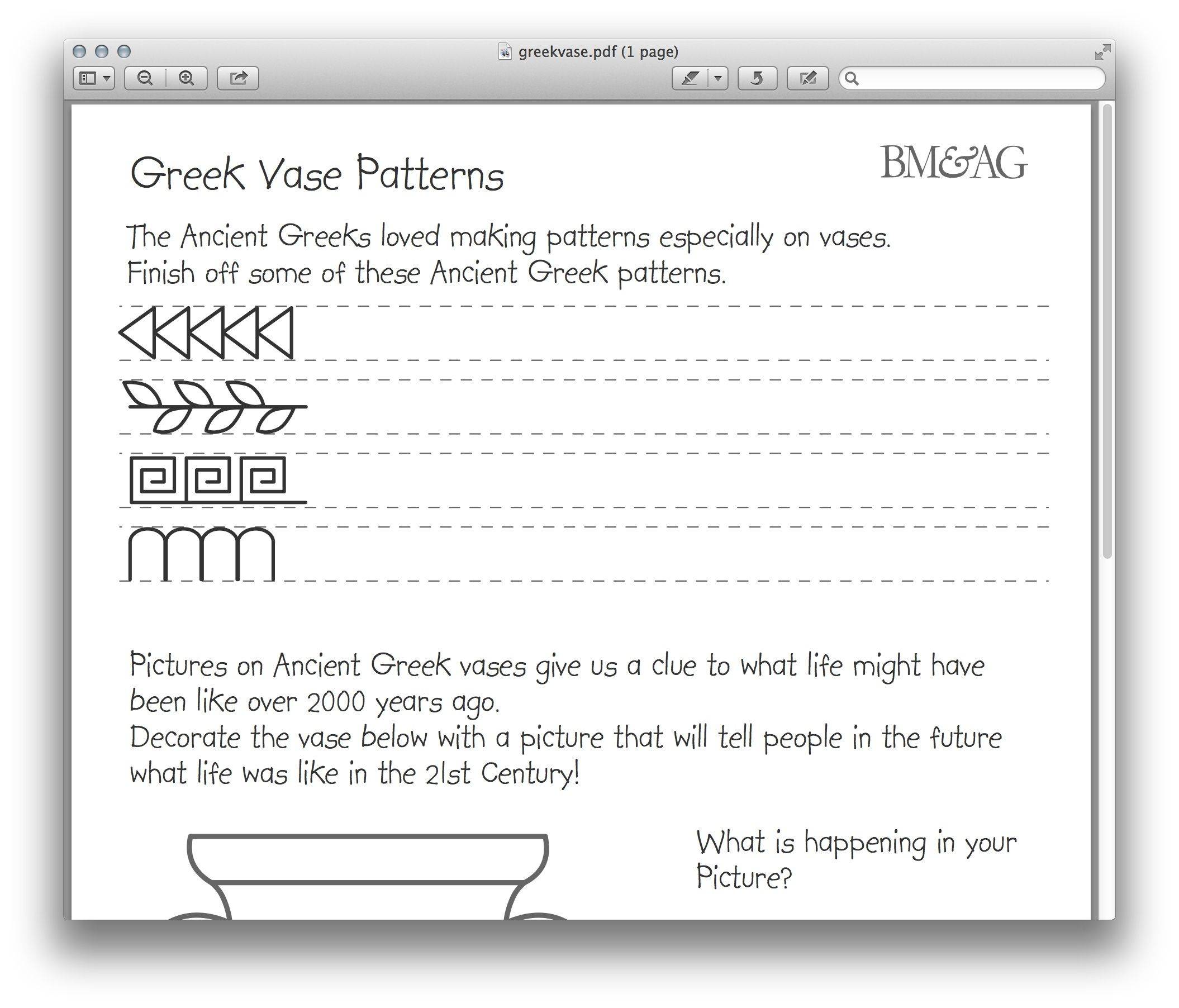 Greek Pottery And Patterns Worksheet. Mystery Of History Volume 1 | Greek Alphabet Printable Worksheets