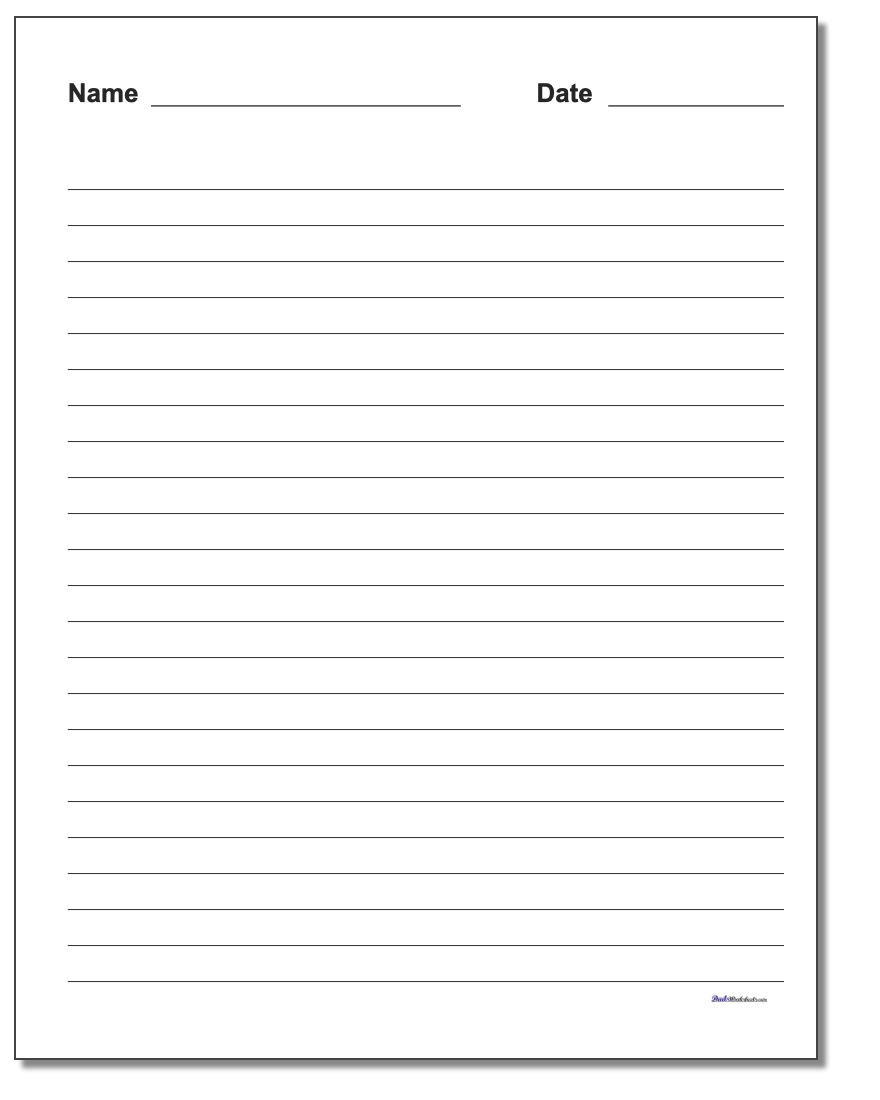 Handwriting Paper | Printable Handwriting Worksheets Pdf