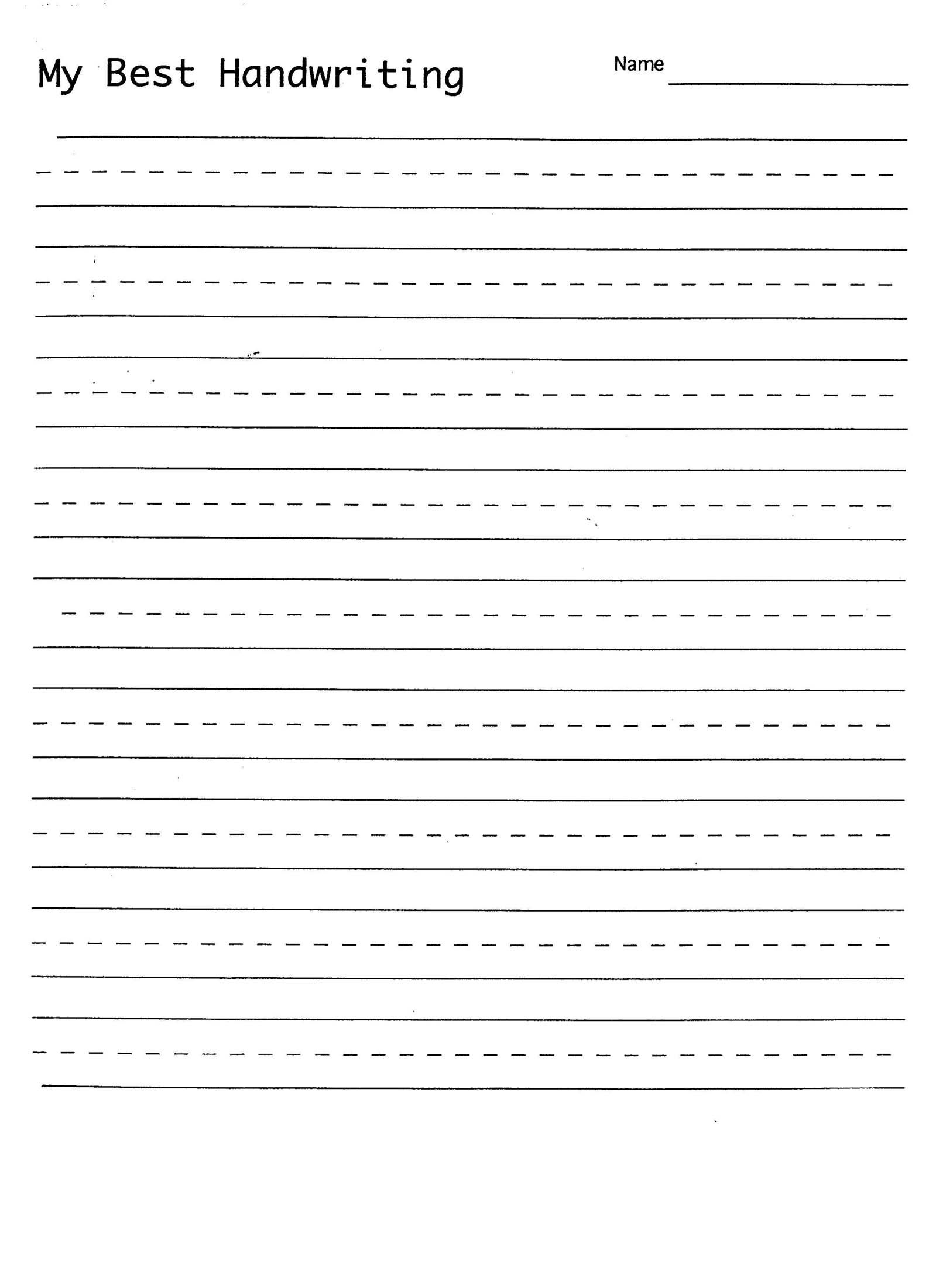 Handwriting Practice Sheet | 1St Grade Handwriting | Writing | Printable Writing Worksheets