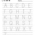 Handwriting Practice Worksheet   Free Kindergarten English Worksheet | Free Printable Worksheets Handwriting Practice