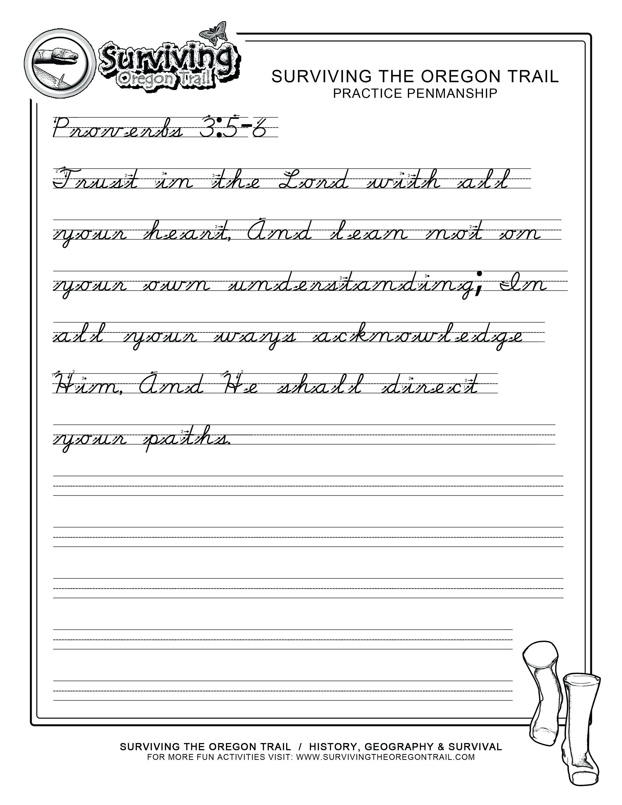 Handwriting Worksheet Alphabet Free Printable | Free Printable Script Writing Worksheets