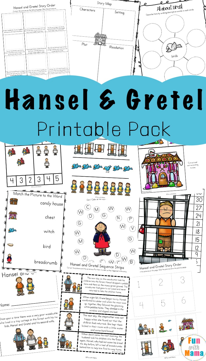 Hansel And Gretel Short Story Activities - Fun With Mama | Hansel And Gretel Printable Worksheets