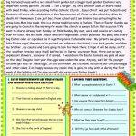 Happy Easter Reading Comprehension Worksheet   Free Esl Printable | Free Printable Easter Reading Comprehension Worksheets